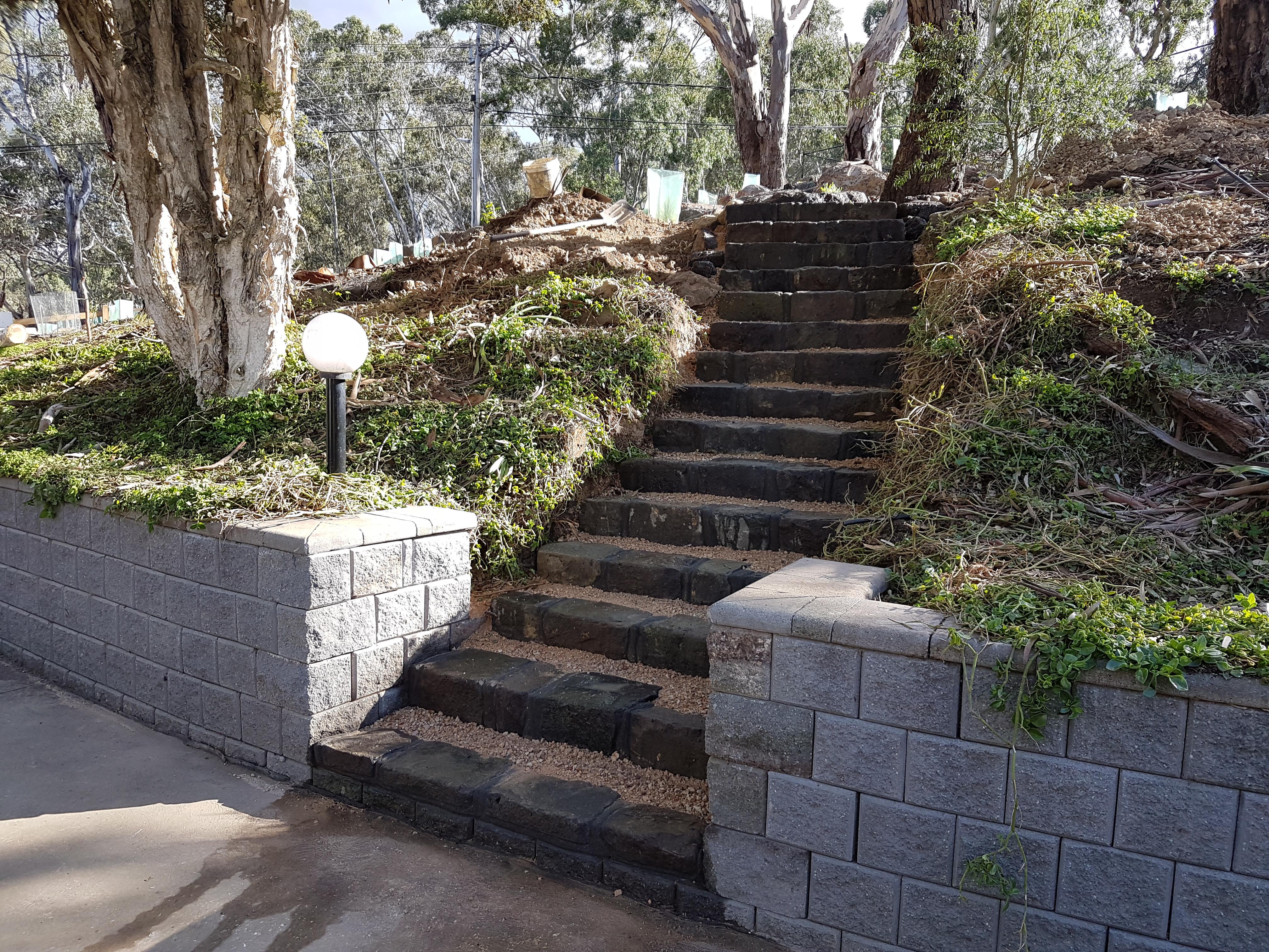 Bluestone blocks, Bluestone block steps, steps