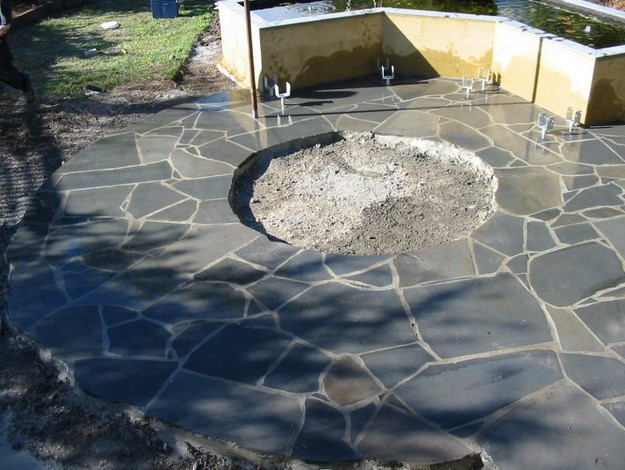 Crazy paving, natural stone,  Sawn Blue Stone,
