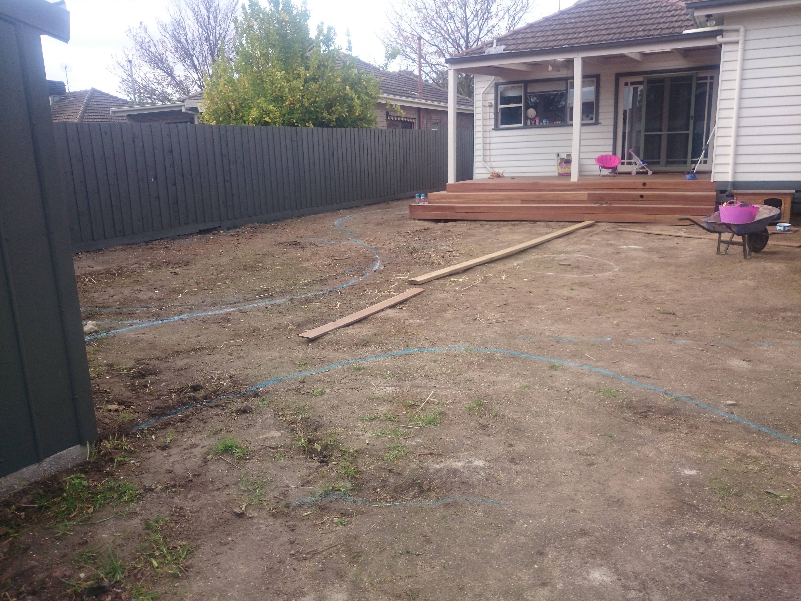 Before works commenced