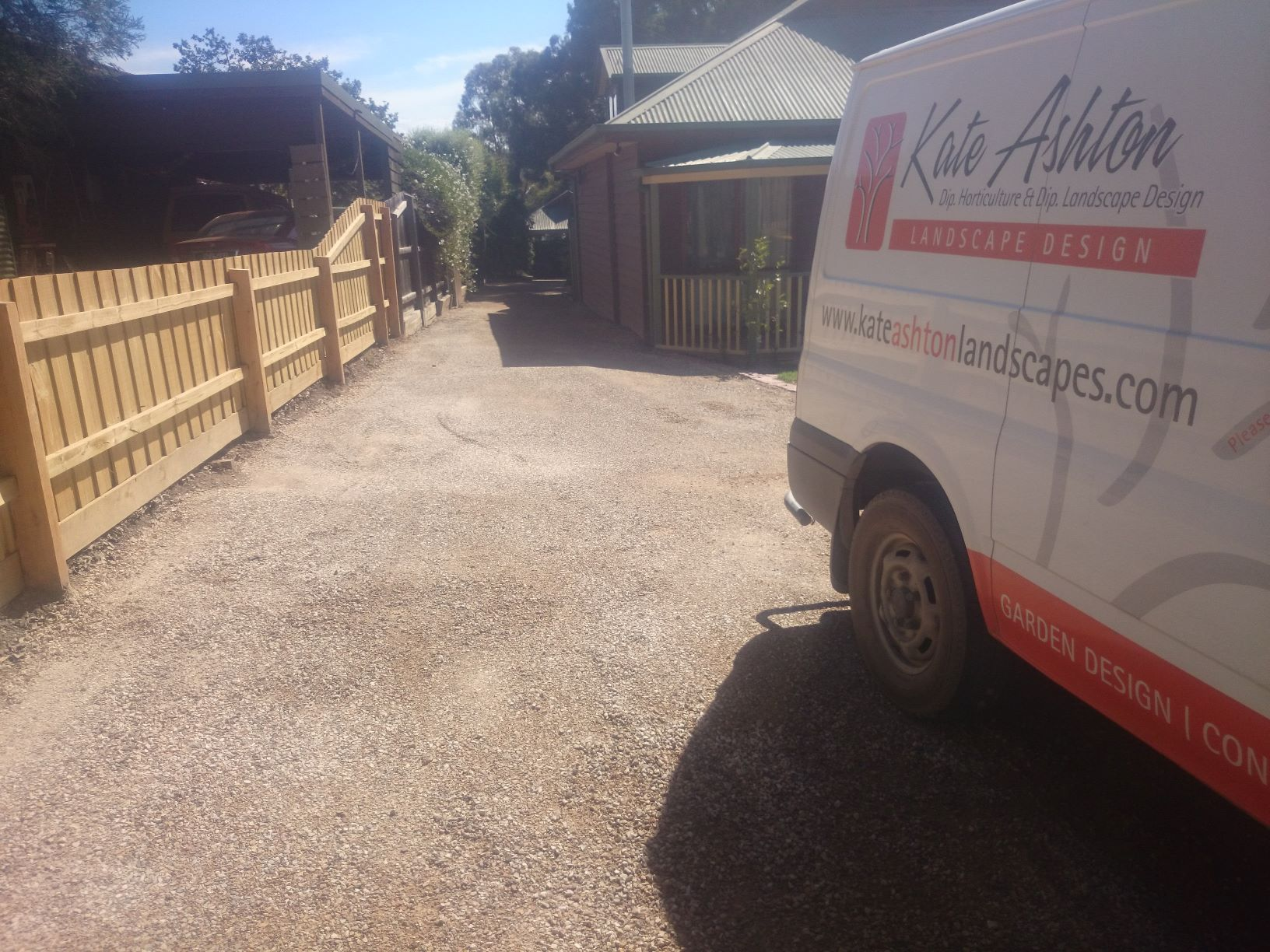 Doamond Creek driveway resufacing, Driveway improvements, compacted sandstone,