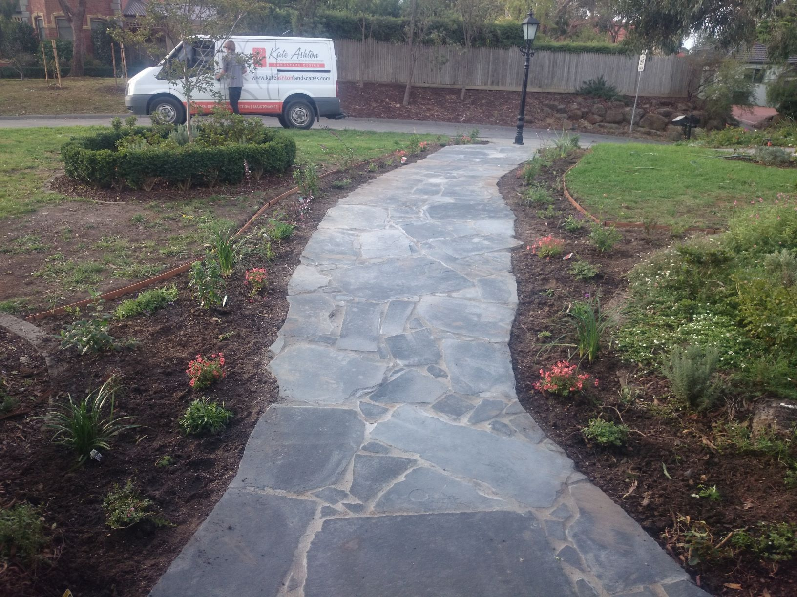 Garden path Eltham, Crazy paving, Bluestone paving