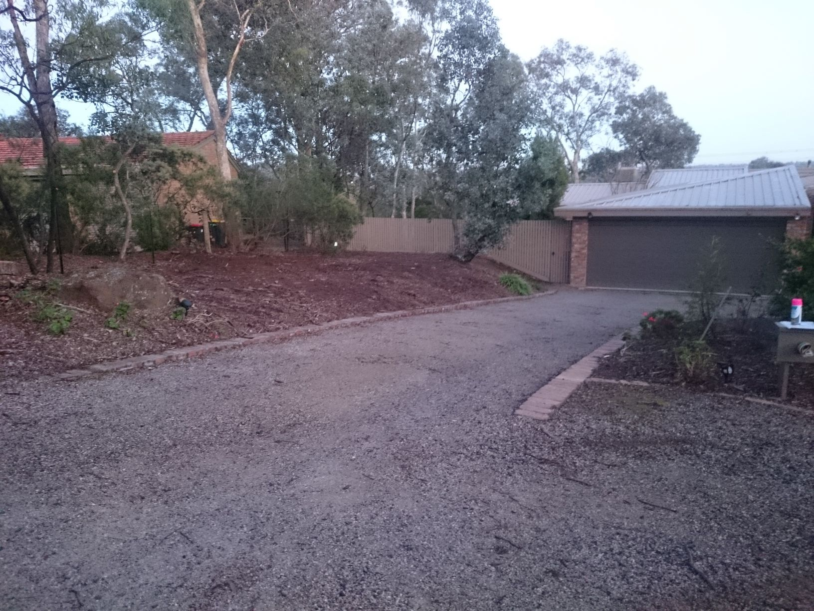 extra parking needed, before photo, driveway surfacing,