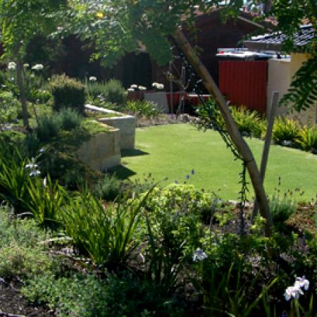 Garden Design Perth front garden retaining walls | kate ashton landscape design