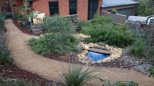 Garden path, compacted toppings, compacted sandstone, Eltham path, Eltham garden