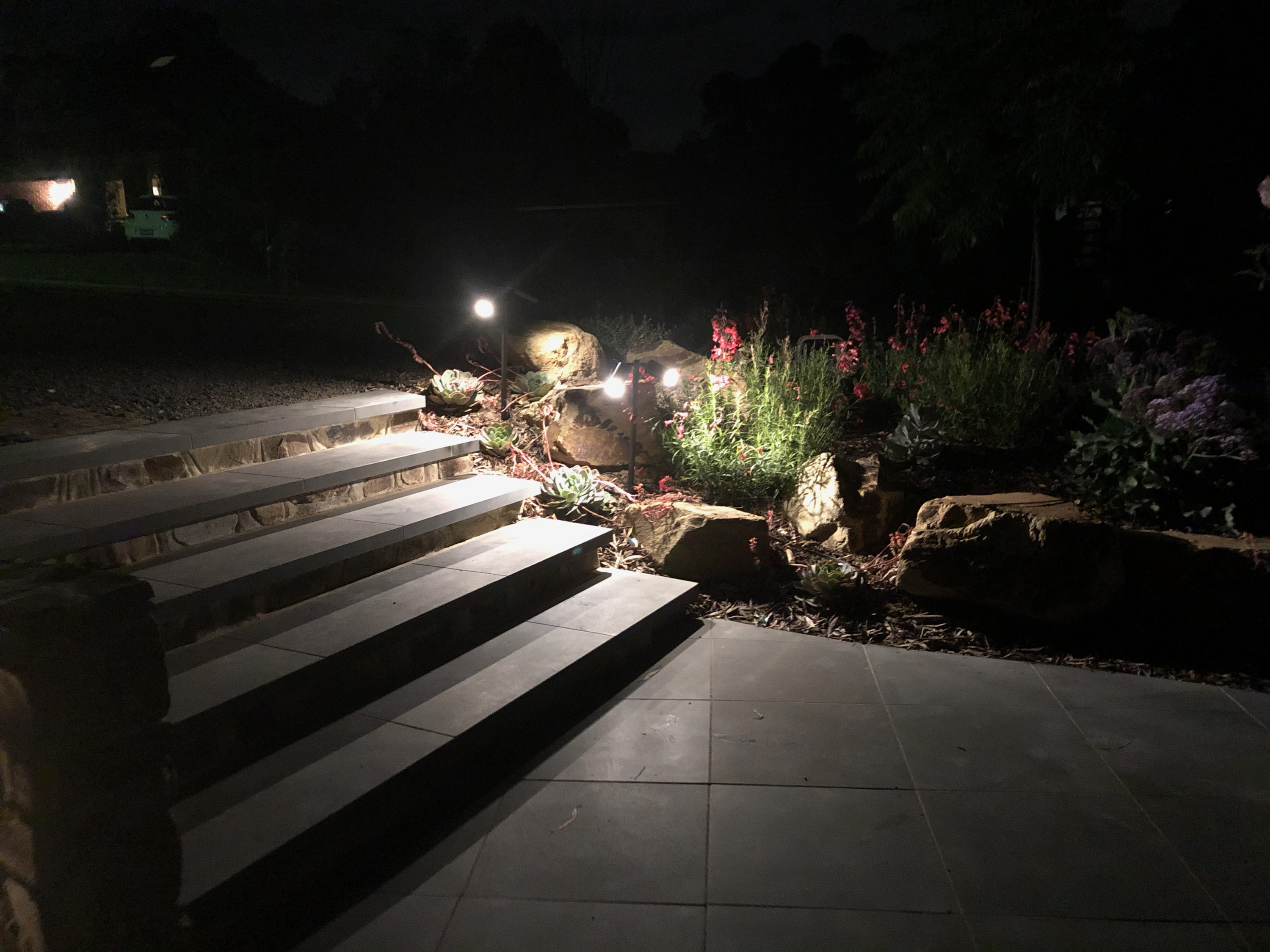 Step lighting, garden lights