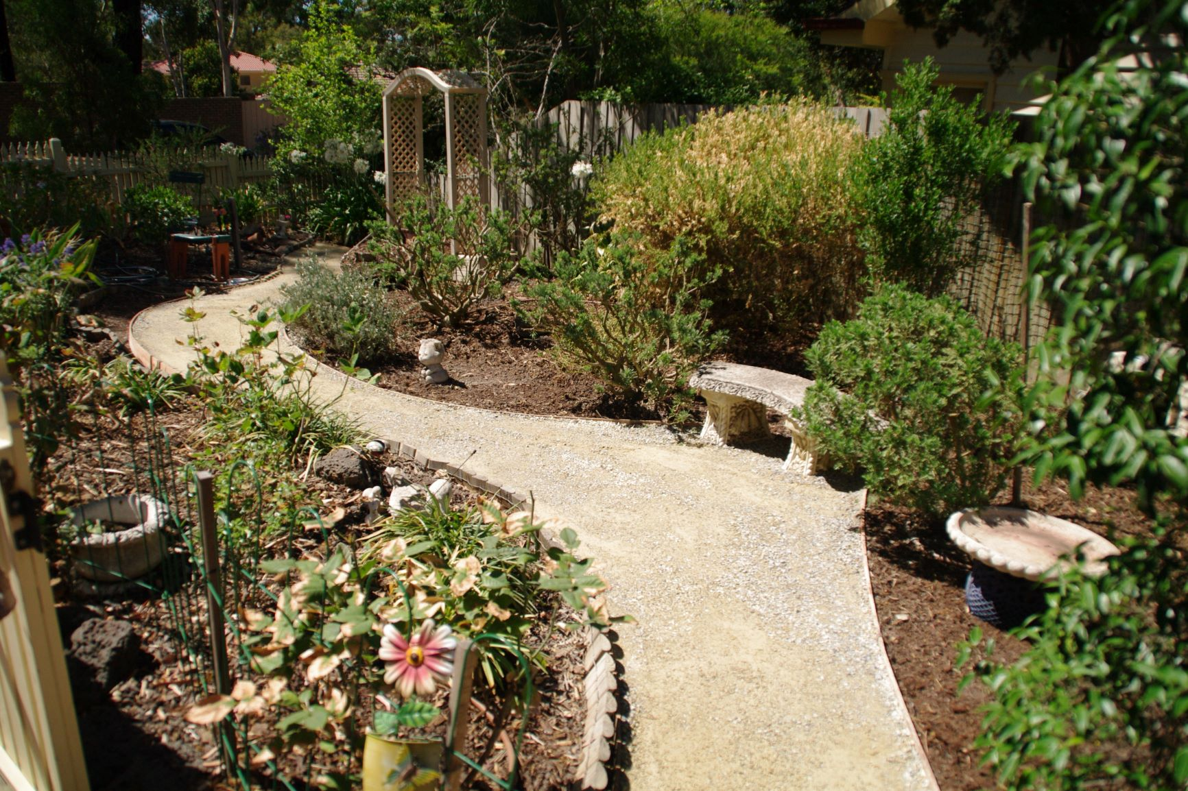 Garden path, compacted toppings, compacted toppings, Greensborough path, Greensborough garden