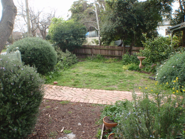 Before landscaping works, garden design